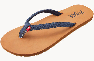 Flojos Womens Harper Navy Tan
