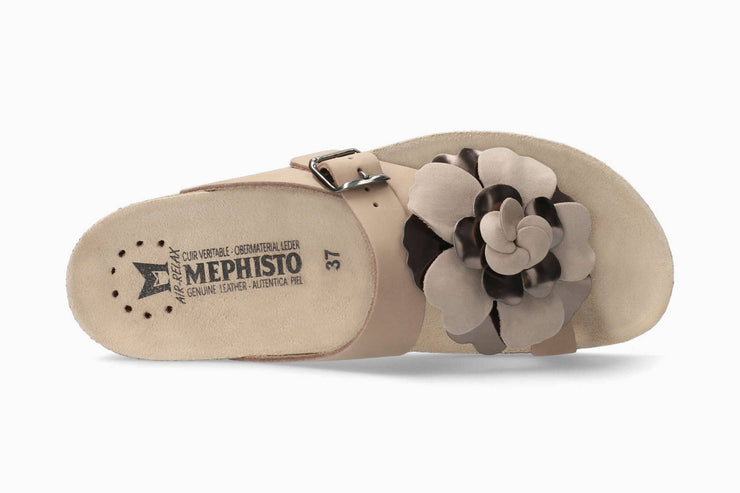 Mephisto Womens Helen Flower Light Taupe