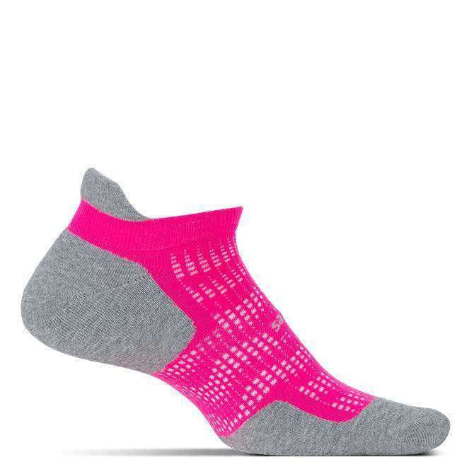 Feetures High Performance Cushion No Show Tab Pink Pop