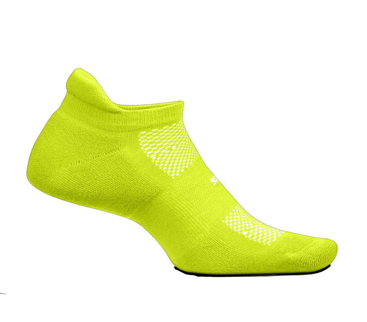 Feetures High Performance Cushion No Show Tab Bio Lime