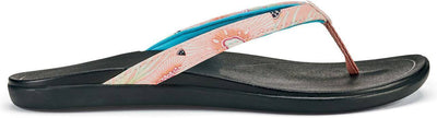 Olukai Womens Ho'opio Dusty Pink Coral Black