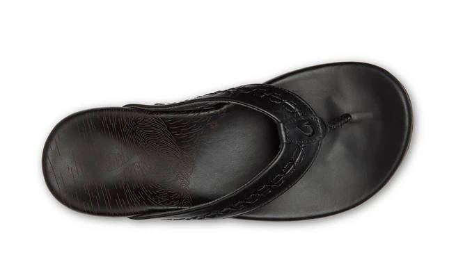 Olukai Mens Honoli'i Black Black