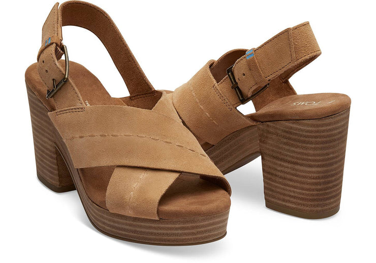 Toms Womens Ibiza Sandals Honey Suede