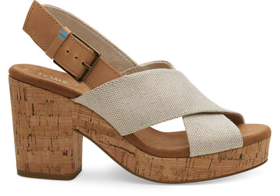 Toms Womens Ibiza Sandals Pearlized Metallic Woven