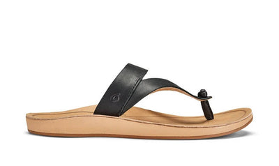 Olukai Womens Kaekae Ko'o Black Golden Sand