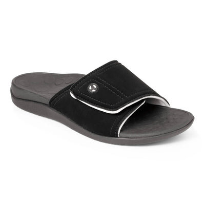 Vionic Mens Kiwi Slide Black Grey