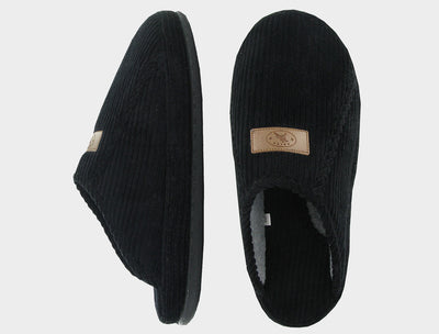 Naot Mens Laze Slippers Black