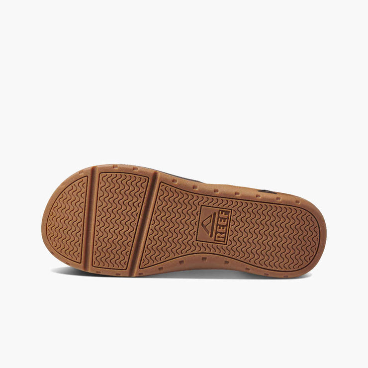 Reef Mens Leather Ortho-Spring Brown