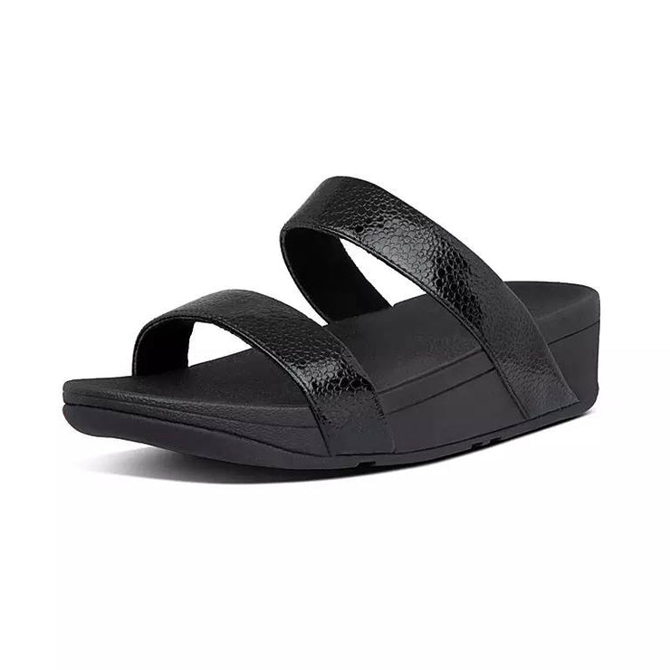 FitFlop Womens Lottie Scale Slides All Black