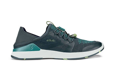 Olukai Womens Miki Trainer Iron Mineral Blue