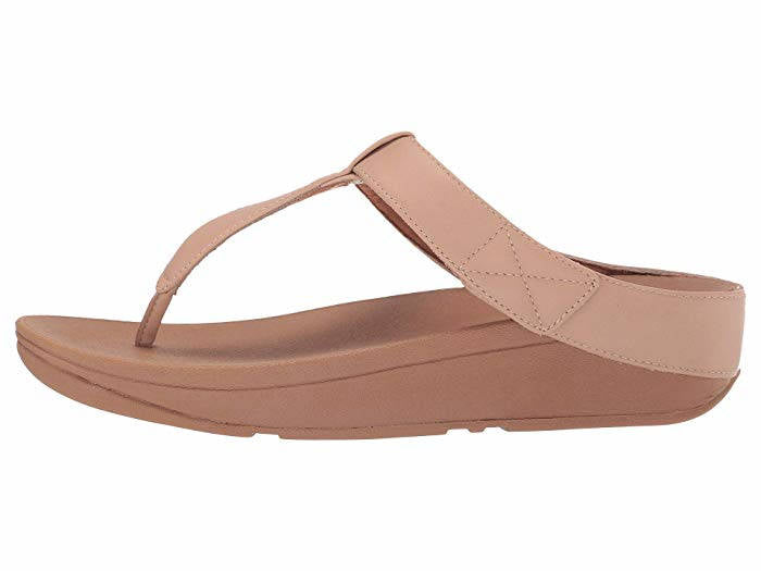 FitFlop Womens Mina Toe Thongs Beechwood