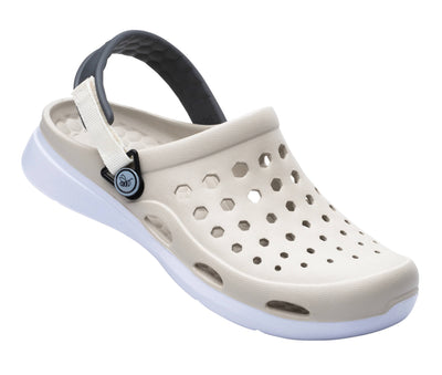 Joybees Womens Modern Clog Linen White
