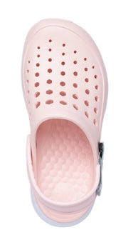 Joybees Womens Modern Clog Pale Pink White