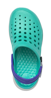 Joybees Womens Modern Clog Teal Light Grey