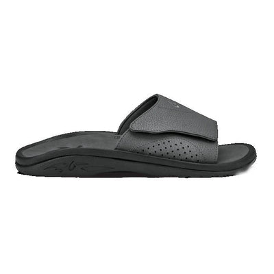 Olukai Mens Nalu Slide Dark Shadow