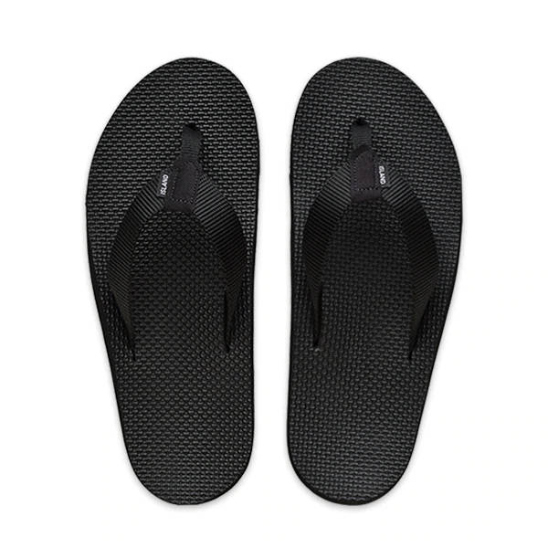 Island Slipper Mens Nylon Deck Black