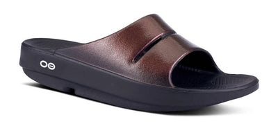 OOFOS Womens OOahh Luxe Slide Cabernet