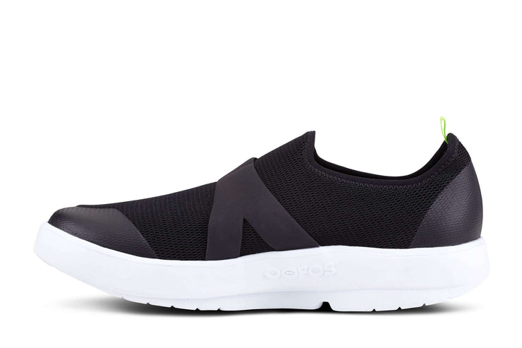 OOFOS Mens OOmg Mesh White Black