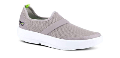 OOFOS Womens OOmg Mesh White Grey