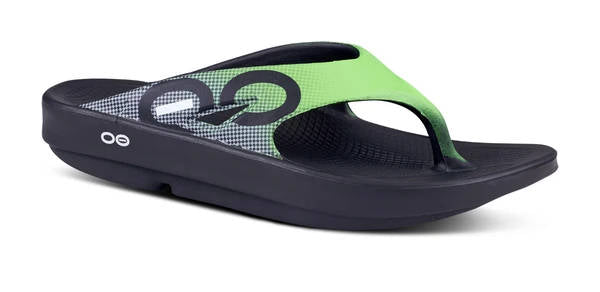 OOFOS Mens OOriginal Sport Green Grid