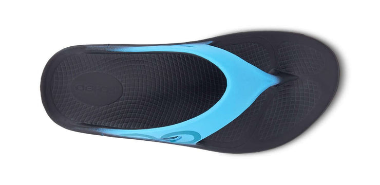 OOFOS Womens OOriginal Sport Black Aqua