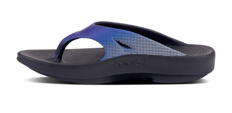 OOFOS Mens OOriginal Sport Blue Grid