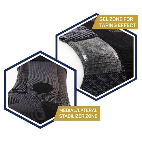 OS1st AF7 Ankle Bracing Sleeve Single Right Black