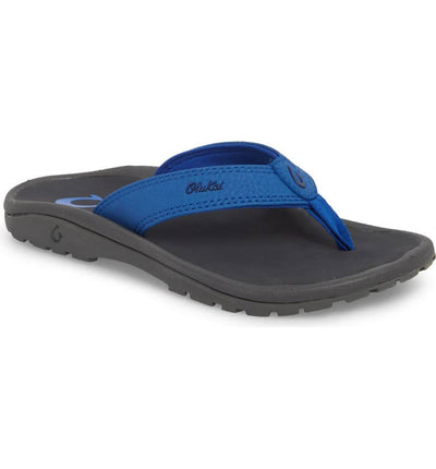 Olukai Boys Ohana Aqua Blue Dark Shadow