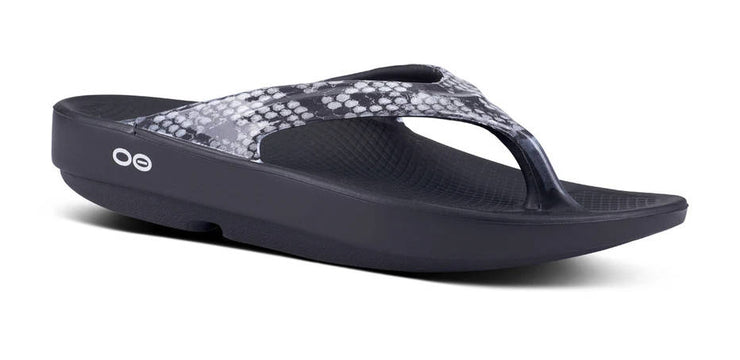 OOFOS Womens Oolala Sandal Limited Snake