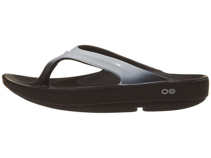 OOFOS Womens Oolala Luxe Sandal Black Cloud