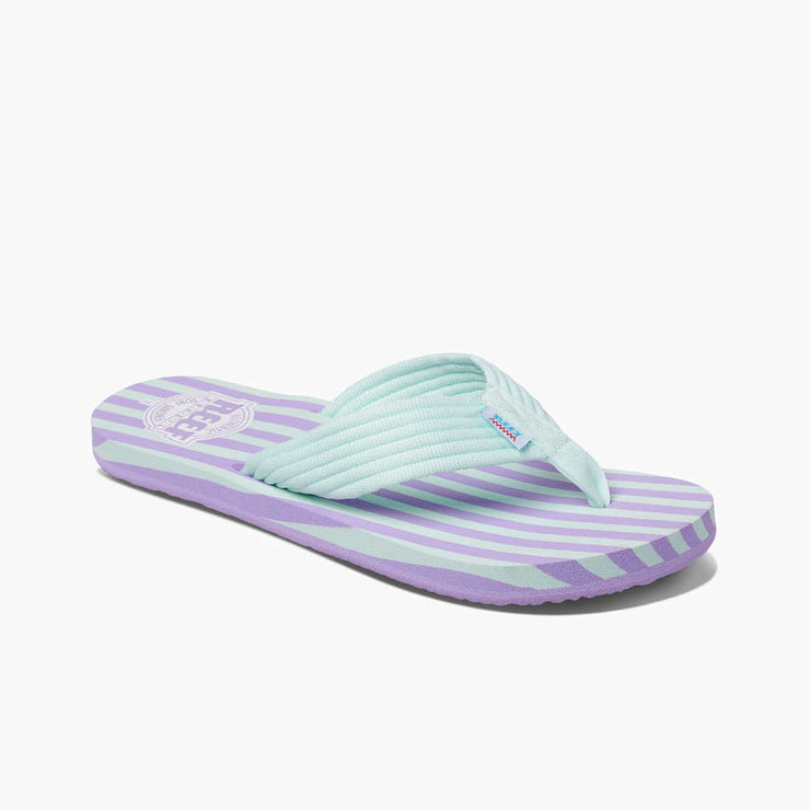 Reef Womens Original Stripe Lavender Blue