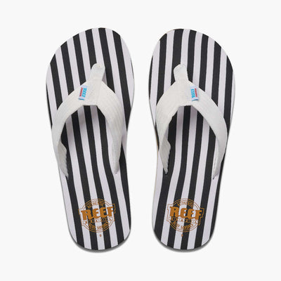 Reef Mens Original Stripes Black White