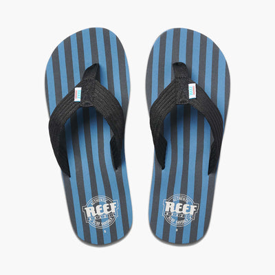 Reef Mens Original Stripes Blue Black