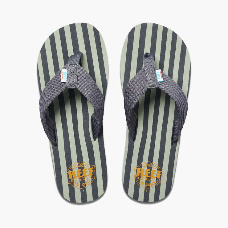 Reef Mens Original Stripes Grey Green