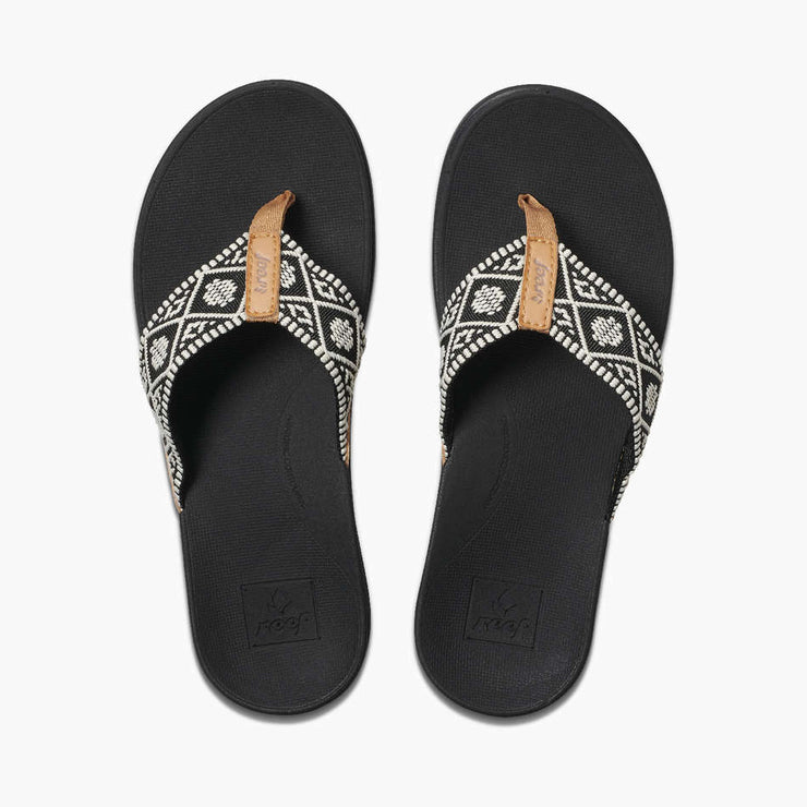Reef Womens Ortho-Bounce Woven Black White