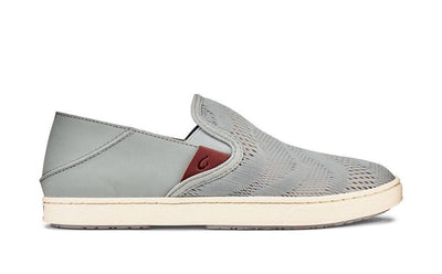 Olukai Womens Pehuea Sneakers Pale Grey Tapa