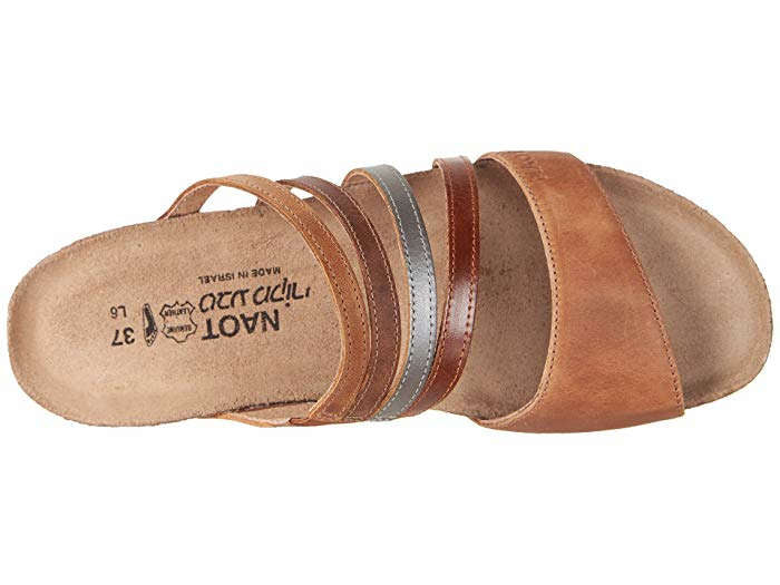 Naot Womens Peyton Latte Maple Brown Saddle