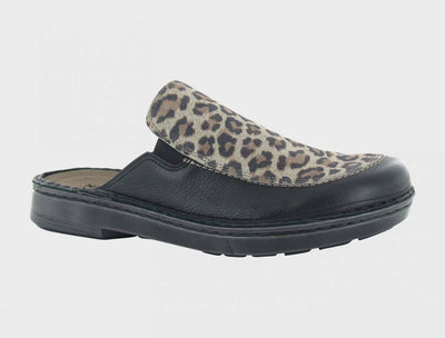 Naot Womens Procida Soft Black Cheetah Combo