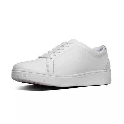 FitFlop Womens Rally Leather Sneakers White