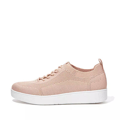 FitFlop Womens Rally Tonal Airyknit Sneakers Blush