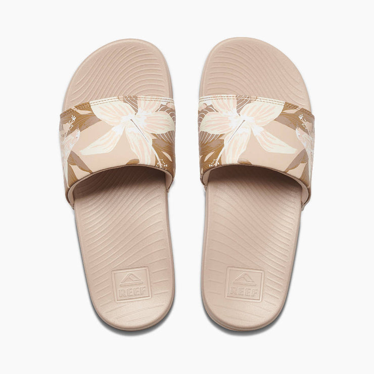 Reef Womens One Slide Sand Hibiscus