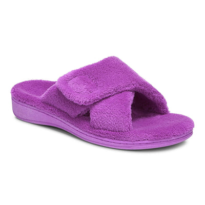 Vionic Womens Relax Slipper Purple Cactus