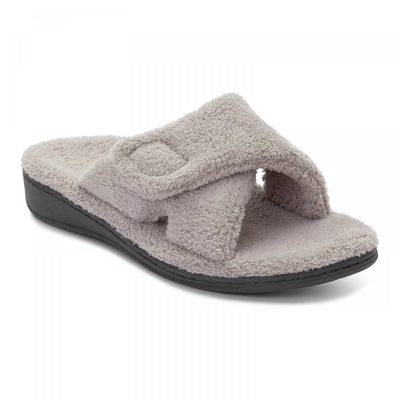 Vionic Womens Relax Slipper Light Grey