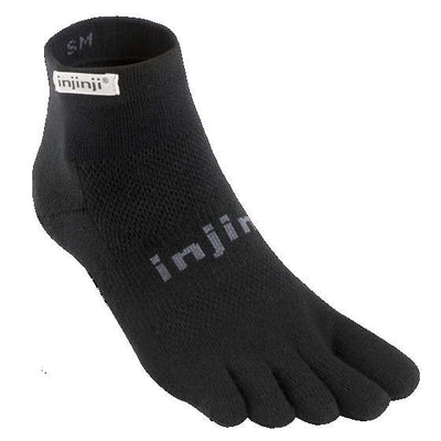 Injinji Run 2.0 Lightweight Mini Crew Black