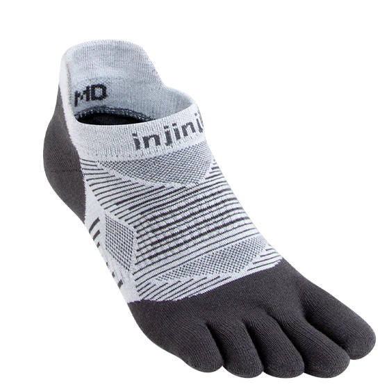 Injinji Run Lightweight No Show Grey