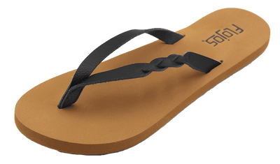 Flojos Womens Serenity Black Tan