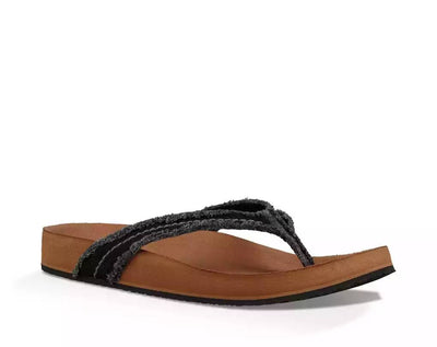 Sanuk Womens She Loungy Black