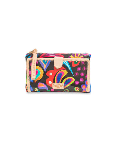 Consuela Slim Wallet Sophie Black Swirly