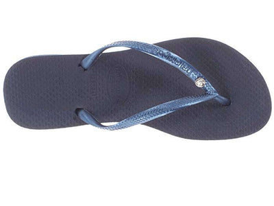 Havaianas Womens Slim Crystal Glamour SW Navy Blue