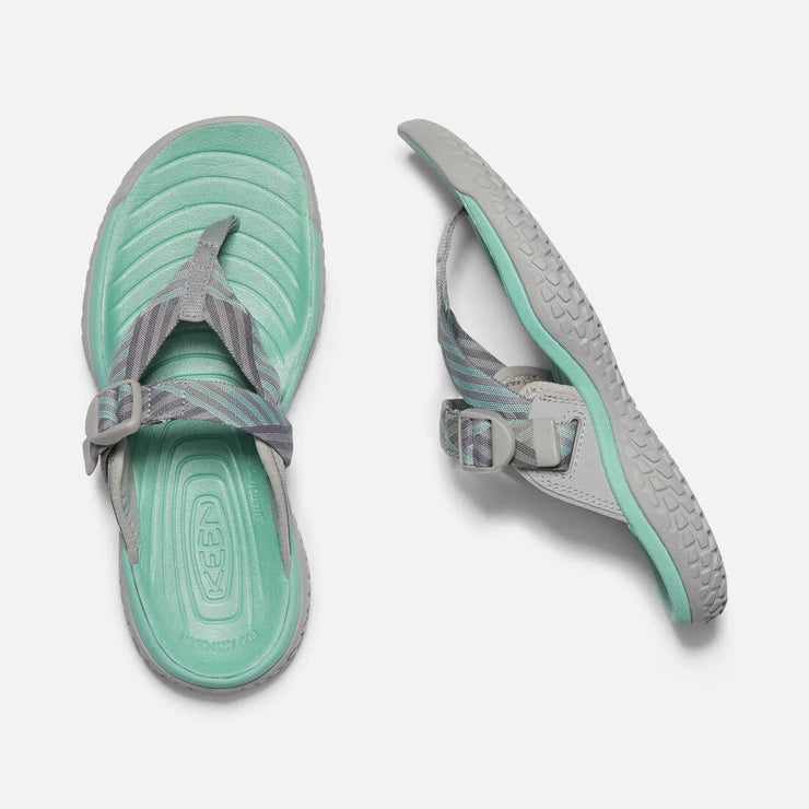 Keen Womens Solr Toe Post Light Grey Ocean Wave